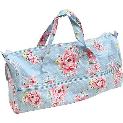 Hobbycraft Beautiful Bloom Knitting Bag Zipped Storage Organiser Handbag