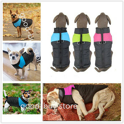 Pet Dogs Winter Warm Clothes Padded Jacket Vest Dog Coats for Small & Large Dogs