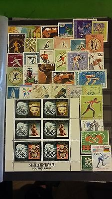 """39 timbres """"Jeux olympiques"""" (lot2)"""