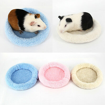 Soft Fleece Guinea Pig Sleeping Bed Winter Small Animal Cage Round  Mat Hamster