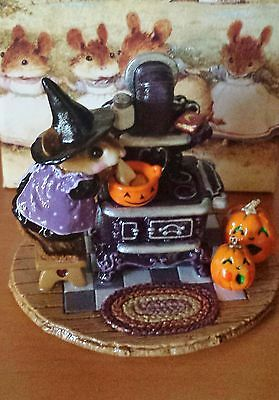 Wee Forest Folk THE OLD BLACK STOVE  M-185a Halloween (DP) Ltd Edition Mint
