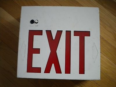 Emergency  White Housing,  Exit Sign, Red