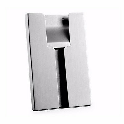 Men Stainless Vogue Thumb Metal Name Card Holder Business Card Case Business