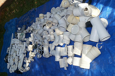 Pipe fittings, PVC, plumbing, huge range of sizes and types