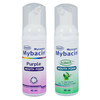 Myseptic Mybacin Mouth Wash Foam Freshness Easy On-The-Go Picnic Total Care 45ml