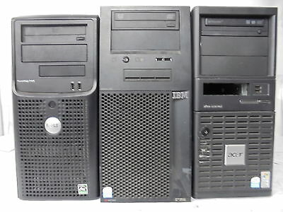 LOTS 3 x ASSORTED COMPUTER SERVER OPTERON e2180 P4 3.0GHz 3GB DDR2 250GB DESKTOP