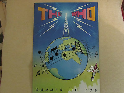 The Who Summer of 79 tour programme
