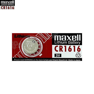 1 x Maxell Lithium CR1616 battery 3V Coin Cell DL1616 KCR1616 Watches EXP:2021