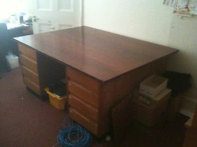 partners desk with mahogany top