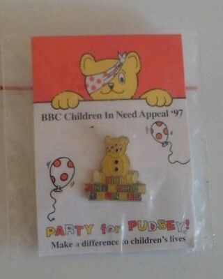 Bbc Children In Need 1997 Pudsey Bear New In Orginal Packaging Badge Pin