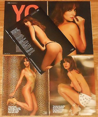 CLAUDIA G GONZALEZ 8 page 2004 article sexy photos Spain MTV model clippings