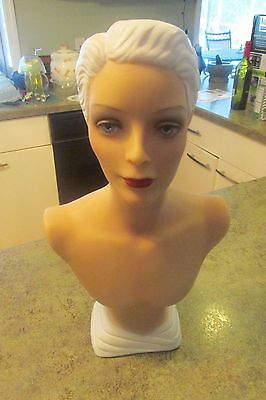 """DECOEYES Female Lady Girl Mannequin Store Display Bust Head Statue 16.5"""""""