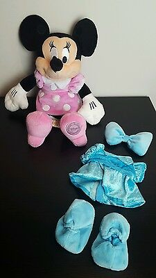 Disney Store Original Minnie Mouse Dress Up Outfit Change Articulated Soft Toy