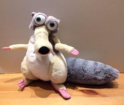 """Ice Age 3 - Scrat plush soft toy 2009 offical product large 12"""" tall"""