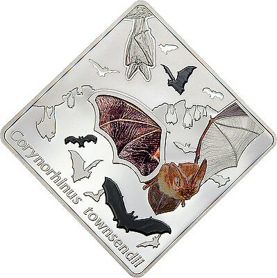 2016 Townsend's Big-Eared Bat 50g Proof Silver Coin