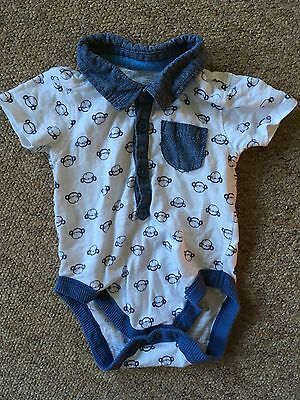 Baby Boy Top/body Suit 6-9 Months