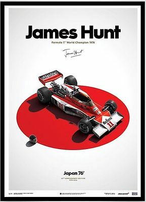 McLaren James Hunt 40th Anniversary Quote Limited Edition Framed Print Style A