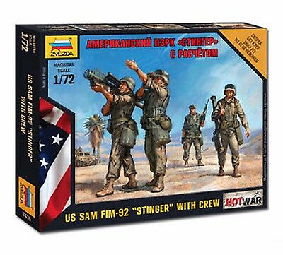 "Zvezda - U.S. Sam Fim-92 ""stinger"" with crew - 1:72"