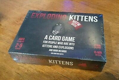 UK Exploding Kittens NSFW Version Edition Fun Party Card Game Christmas Toy Gift