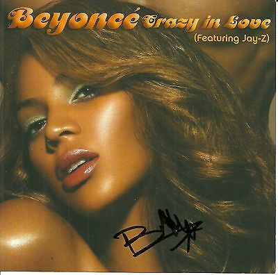 Beyonce signed Crazy In Love dvd single