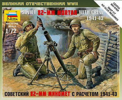 Zvezda - Soviet 82-mm mortar with crew 1941-1943 - 1:72