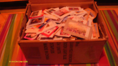 Box of world stamps Germany, Australia, Ireland dominant stamp collection