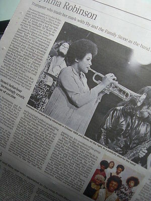 Cynthia Robinson.Times Obituary.Trumpeter Sly and the Family Stone 27.11.15 UK
