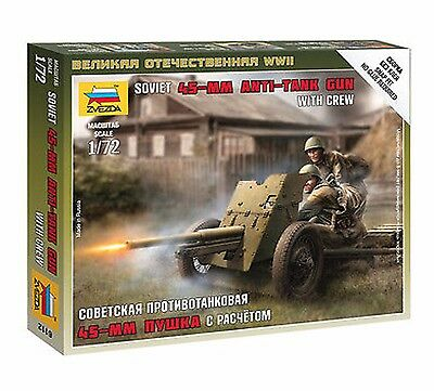 Zvezda - Soviet 45mm anti-tank gun with crew 1939-1942 - 1:72
