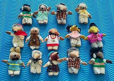 McDonalds Happy Meal Toys Complete Set x12 The Wombles Soft Characters + Spares