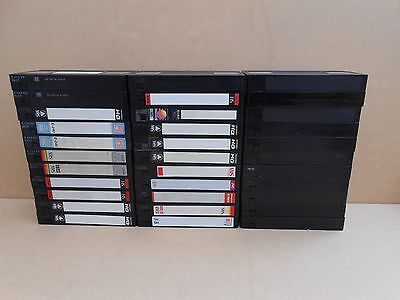 33 USED VHS VIDEO CASSETTE TAPES (11xE240,  21xE180,  1x E120)  Good Condition