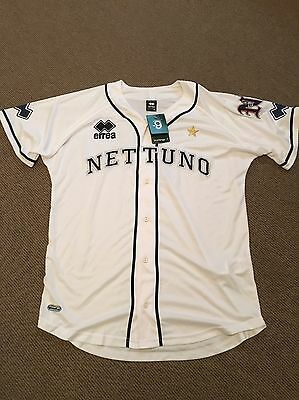 Nettuno Baseball Jersey White Errea New With Tags Size Extra Large XL