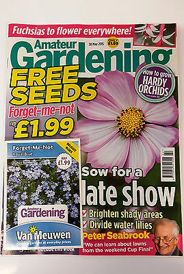 Amateur Gardening Magazine May 2015 with Free Forget Me Not Seeds