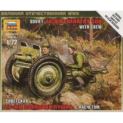 Zvezda - Soviet 76-mm infantry gun with crew - 1:72
