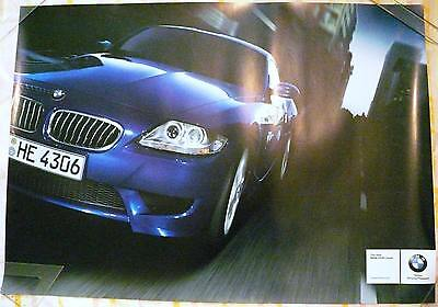 Rare genuine poster BMW Z4M coupe in town