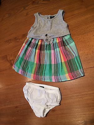 Baby Girl Gap Dress And Knickers 12-18 Months