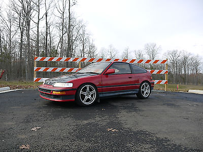 1991 Honda CRX SiR JDM 1991 HONDA CR-X EF8 Si-R RHD Car RARE Glass top SIR CRX B16A Red