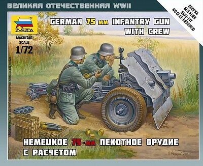 Zvezda - German 75 mm infantry gun with crew - 1:72