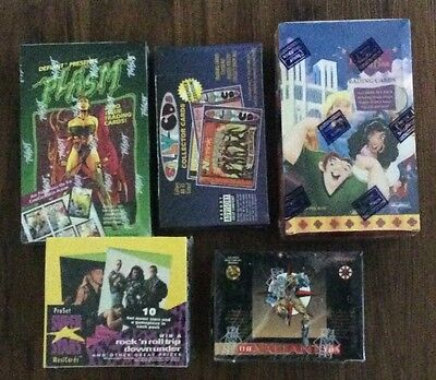 Lot Of 5 Different Non Sport Trading Card Wax Boxes