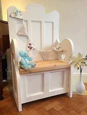 Shabby Chic Monks Bench With Storage.