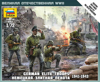 Zvezda - German elite troops 1941-1943 - 1:72