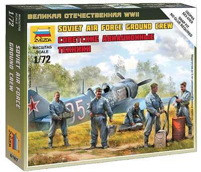 Zvezda - Soviet Air force ground crew - 1:72