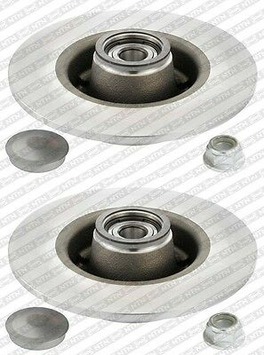 2 Disques Arr + Roulement Renault Clio 3 Iii 1.2 16V 75 Ch 09/2005-04/2009