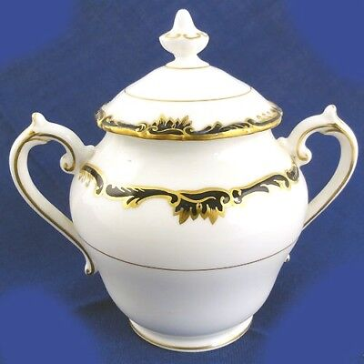 "ADMIRAL COBALT Coalport Covered Sugar 5.4""tall NEW NEVER USED Bone China England"