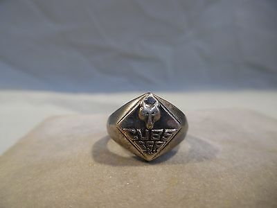 VINTAGE STERLING SILVER bsa CUB SCOUT boy scout RING !!