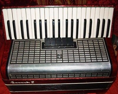 Professional Accordion VOSHOD made in USSR 120 bass 5 registers Piano Acordion