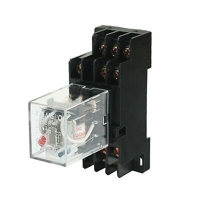 HH53P 220/240VAC Coil Volt General Purpose Power Relay w PYF11A Socket