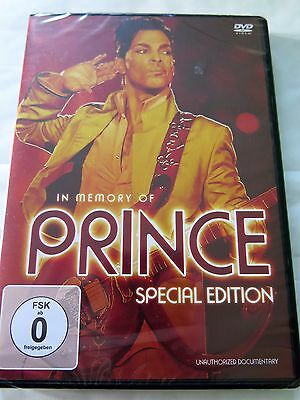Prince - In Memory Of Prince (special edition) DVD - Region free - NEW SEALED