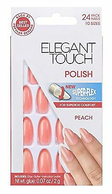 Elegant Touch Polished Nails Peach