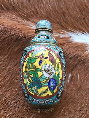 Chinese Qing Dynasty Antique Cloisonné Snuff Bottle