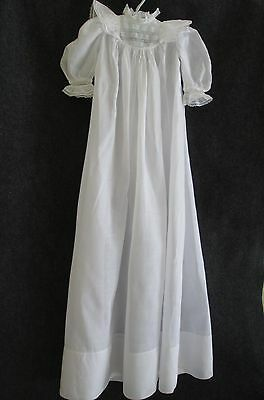 Antique Victorian/edwardian Lawn Christening Baby Dress W/ French Bobbin Lace